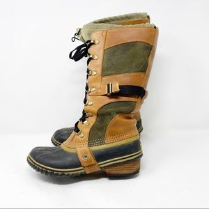 SOREL Conquest Carly Boot Trail Brown in Size 8